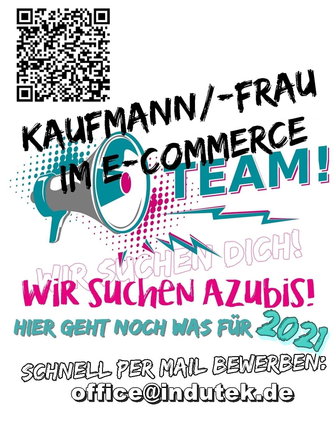 """AZUBI - Ausschreibung 2021 """"Kaufmann E-Commerce"""""""