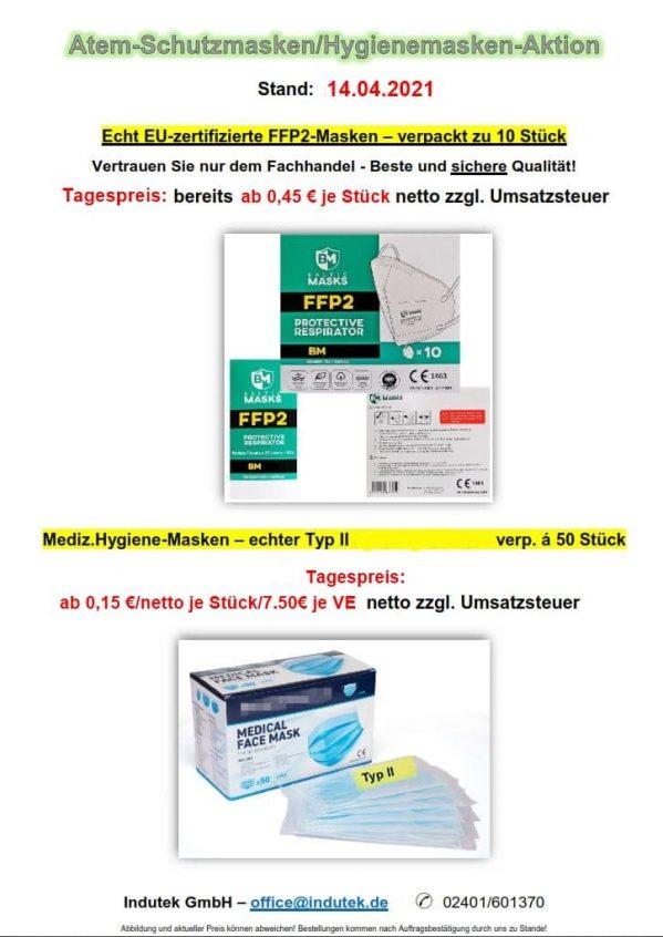 FFP2-Masken/Hygienemasken-Aktion